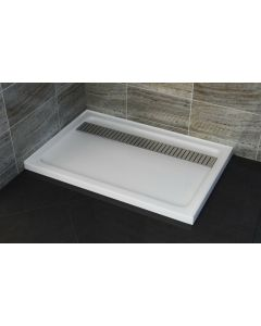 SHOWER BASE WITH STAINLESS STEEL GRATE 1200x900 SMC LOW PROFILE