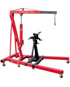 2 TON ENGINE CHERRY PICKER HOIST SHOP CRANE /AND ENGINE STAND