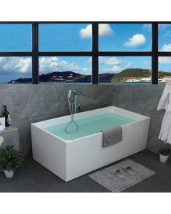FICO ACRYLIC FREE STANDING SOAKING BATHTUB 1400 X 750 X 580MM