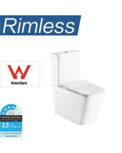 WINDSOR WALL FACED RIMLESS TOILET SUITE HYGIENE FLUSH - P OR S TRAP NEW