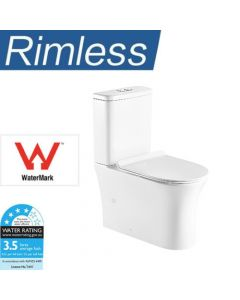 Rimless Hygiene Flush Back to Wall Toilet Suite with Soft Close