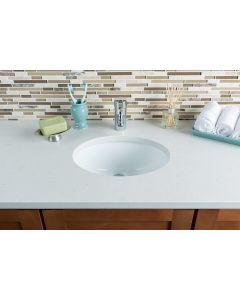 Oval Undermount Bathroom Sink- 510mm Bathroom Sink Modern Pure White