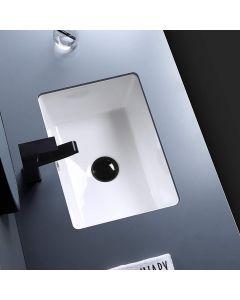Undermount Bathroom Sink- 460mm Bathroom Sink Modern Pure White