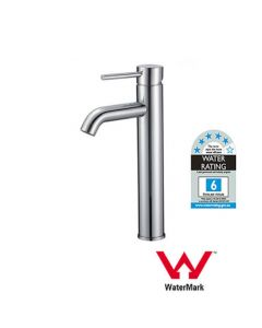 SINGLE HANDLE BATHROOM SINK TALL MIXER TAP ONE HOLE DECK MOUNT MIXER TAP