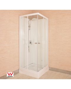 "SHOWER CUBICLE WITH ACRYLIC BACK WALL 800X800X2000MM ""NEW"""