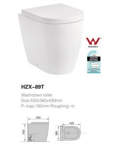 TOILET SUITE CONCEALED CISTERN CERAMIC SOFT CLOSE PP SEAT - P OR S TRAP