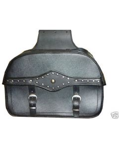 SADDLE BAG - CLASSIC TWO STRAP LEATHER MOTORCYCLE BAG