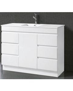 TRENT GLOSS WHITE 1200MM HIGH QUALITY MODERN BATHROOM VANITY UNIT