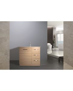 VANITY 900MM MDF MELAMINE VANITY UNIT WITH CERAMIC BASIN