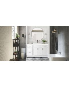 CALAIS VANITY BATHROOM 1200MM UNIT WITH STONE BENCH TOP & MIRROR