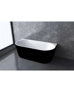 BATH MASTER FREESTANDING BATHTUB ACRYLIC BLACK AND WHITE 1500 X 750 X 580MM