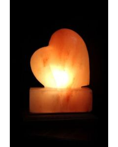 Heart Shaped Hand Carved Himalayan Rock Salt Lamp, Ionic Air Purifier
