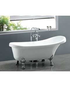 CLAW FOOT ACRYLIC FREE STANDING SOAKING BATHTUB 1700 X 770 X 670MM
