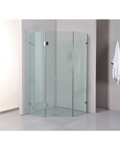 DIAMOND SHAPE 900 X 900X2000MM FRAMELESS 10MM GLASS SHOWER SCREEN