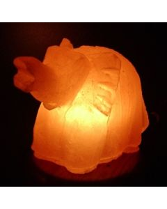 ELEPHANT SHAPED Himalayan Rock Crystal Salt Lamp (Unique Ionizer)