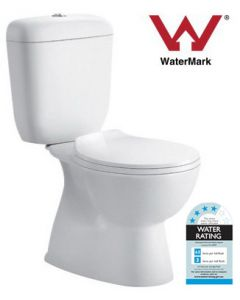 Newport Close Coupled Toilet Pan With Cistern & Seat New S-Trap