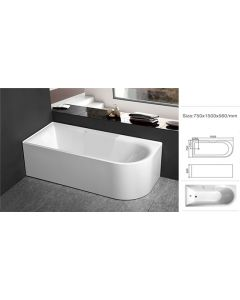 SIA FREESTANDING SOAKING BATH TUB 1500X750X560MM