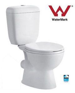 Newport Close Coupled Toilet Pan With Cistern & Seat New P-Trap