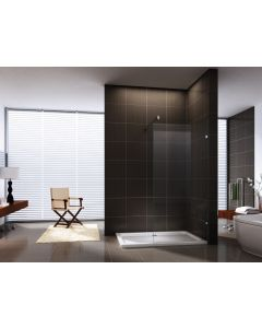 THE PLAYTIME WALK-IN SHOWER 1000X2000MM RECTANGLE FRAMELESS10MM GLASS