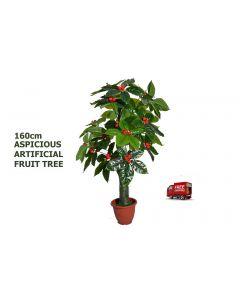 ARTIFICIAL ARTISTIC AUSPICIOUS FRUIT FAKE TREE FICUS BUSH,DARK GREEN,160CM