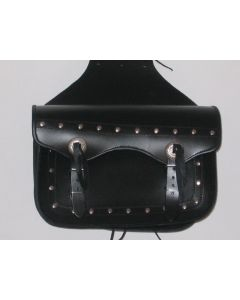 "SADDLE BAG "" CLASSIC TWO STRAP LEATHER MOTORCYCLE BAG"