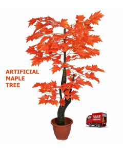 Artificial Artistic Maple Tree 106cm , Silk Tree