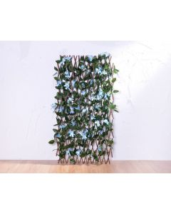 OUTDOOR ARTIFICIAL TRELLIS AZALEA LIVING WALLS GREEN LEAVES WITH BLUE FLOWERS