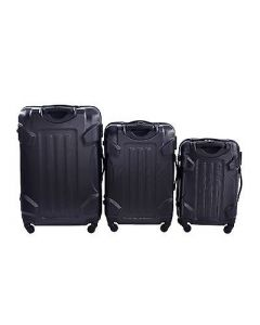 NEW 3 PCS LUGGAGE TRAVEL SET BAG ABS TROLLEY SUITCASE WITH LOCK 3 COLORS