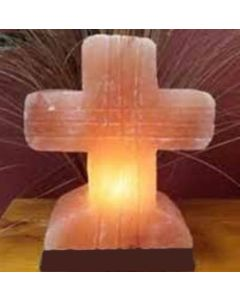 "HIMALAYAN SALT LAMP ""CROSS"" SHAPE UNIQUE IONIZER"