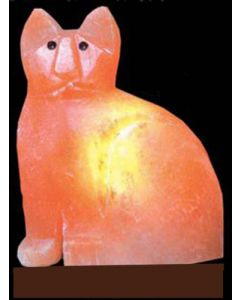 "Himalayan SALT LAMP ""CAT"" Shape Unique Ionizer"