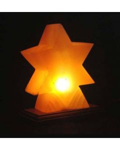 "HIMALAYAN SALT LAMP ""STAR"" SHAPE UNIQUE IONIZER"