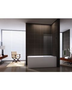 900X1400MM FRAMELESS BATHTUB PANEL 10MM GLASS SILVER