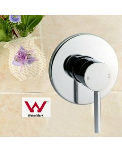 Round Chrome Built-in Shower Mixer(Brass), Watermark Certificate