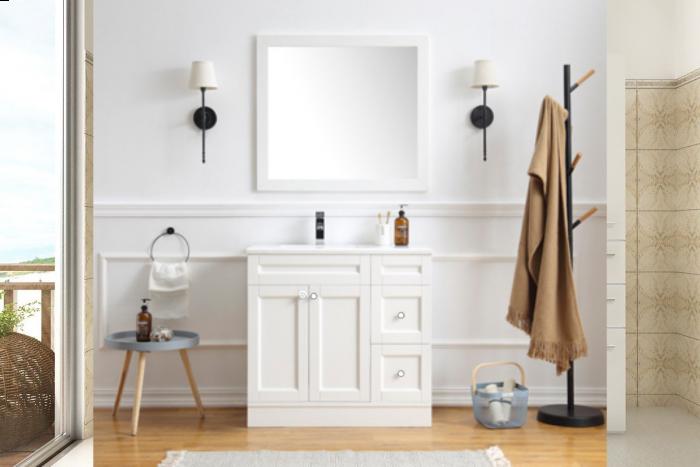 Oxford 900mm High Quality Modern Bathroom Vanity Unit And Mirror