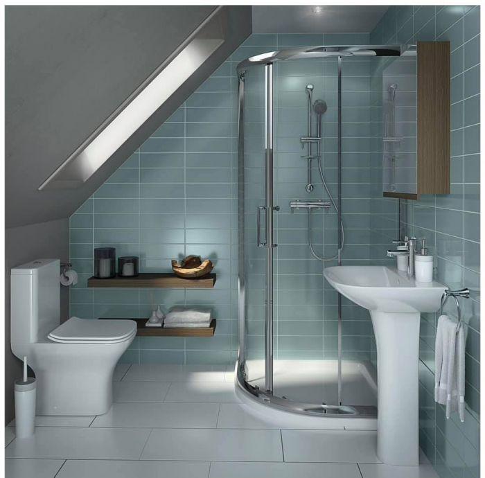 Modern White Ceramic Full Pedestal Basin Single Tap Hole Bathroom Sink